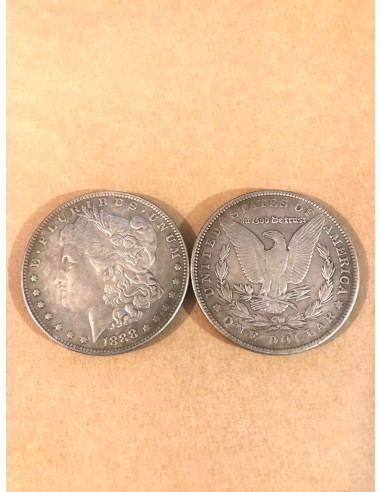 Replica moneda Morgan dollar 1888