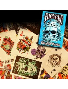 Bicycle club tattoo azul